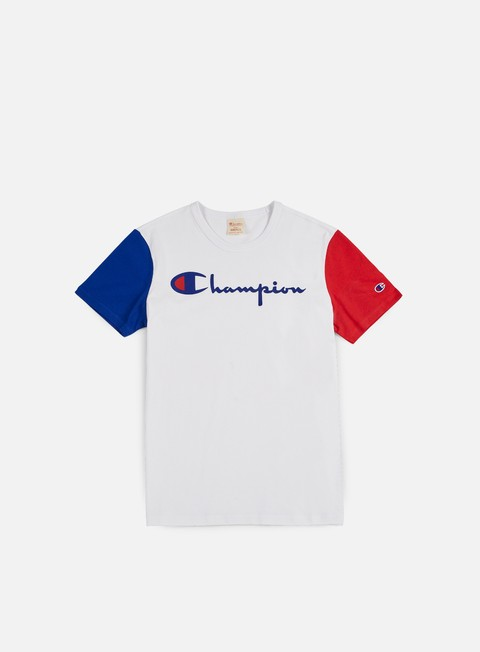 t shirt champion reverse weave contrast t shirt white