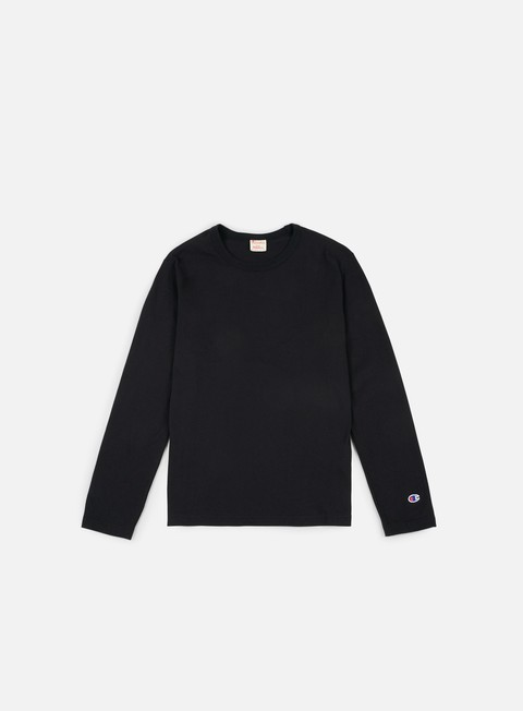t shirt champion reverse weave ls t shirt black
