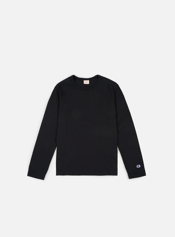Champion - Reverse Weave LS T-shirt, Black