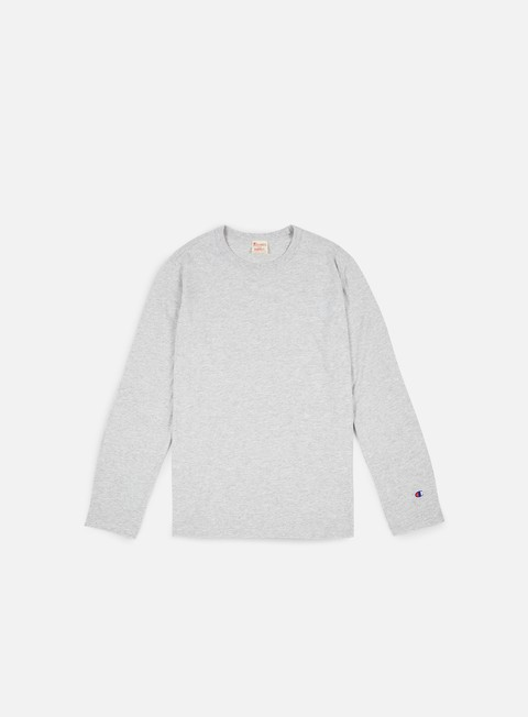 t shirt champion reverse weave ls t shirt heather grey