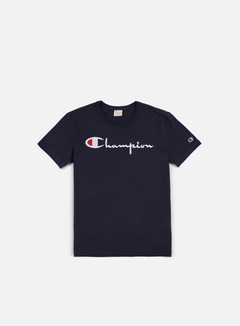 Champion - Reverse Weave Script T-shirt, Navy 1