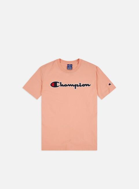Short Sleeve T-shirts Champion Satin Script Logo T-shirt