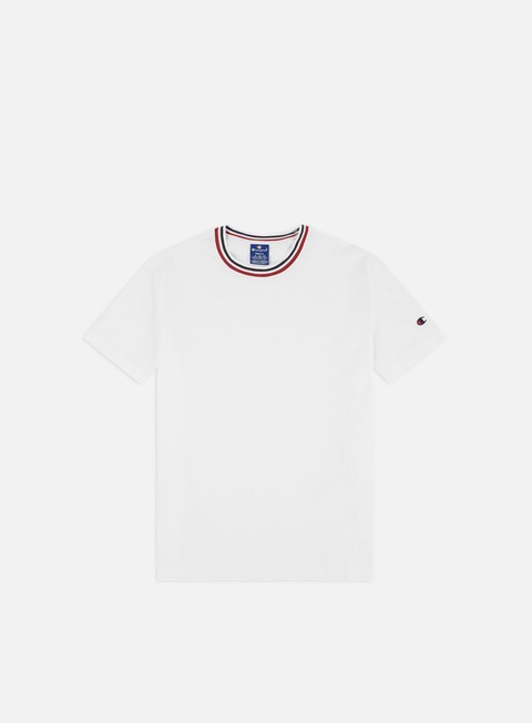 Outlet e Saldi T-shirt a Manica Corta Champion Striped Collar T-shirt