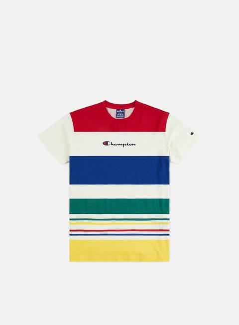 Short Sleeve T-shirts Champion Striped Logo T-shirt