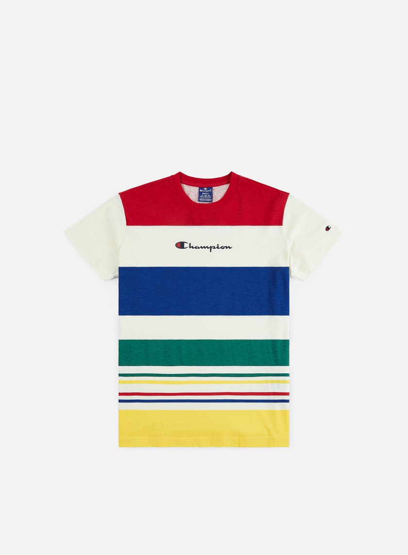 Champion Striped Logo T-shirt