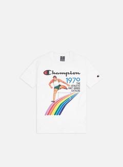 Champion - Vintage Cover Print T-shirt, White/White