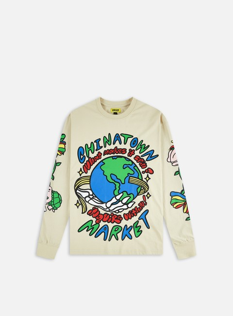T-shirt a manica lunga Chinatown Market Inquire From Within Bone LS T-shirt