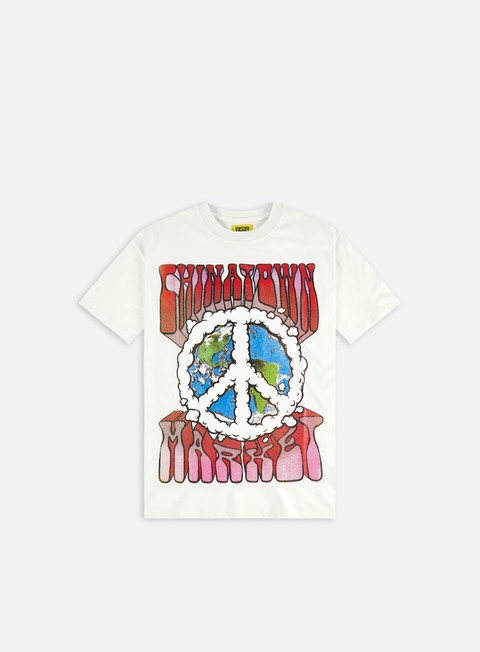 Short sleeve T-shirts Chinatown Market Peace On Earth Clouds T-Shirt