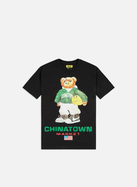 Short Sleeve T-shirts Chinatown Market Sketch Basketball Bear T-shirt
