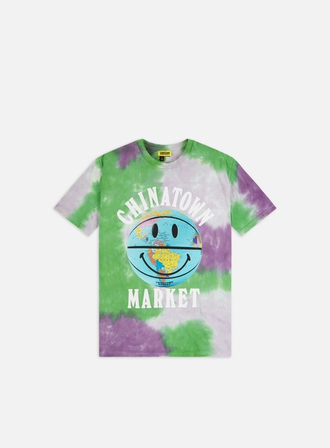 T-shirt a Manica Corta Chinatown Market Smiley Globe Ball T-shirt