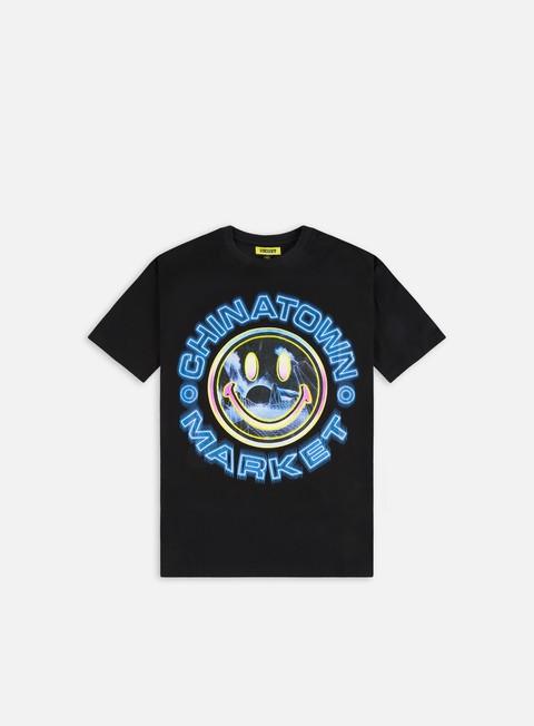 Short sleeve T-shirts Chinatown Market Smiley Vapor Wave T-Shirt