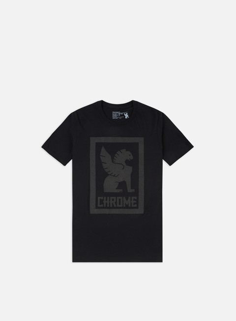 t shirt chrome large lock up t shirt black
