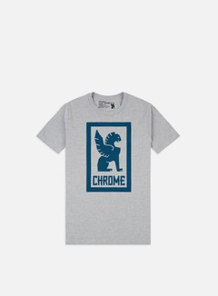 Chrome - Large Lock Up T-shirt, Heather Grey