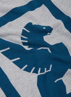 Chrome - Large Lock Up T-shirt, Heather Grey 2