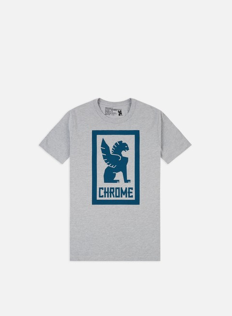 t shirt chrome large lock up t shirt heather grey