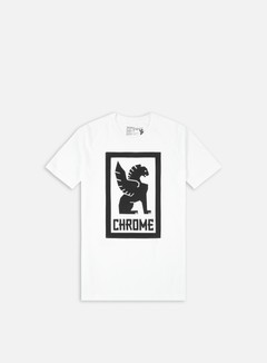 Chrome - Large Lock Up T-shirt, White/Black