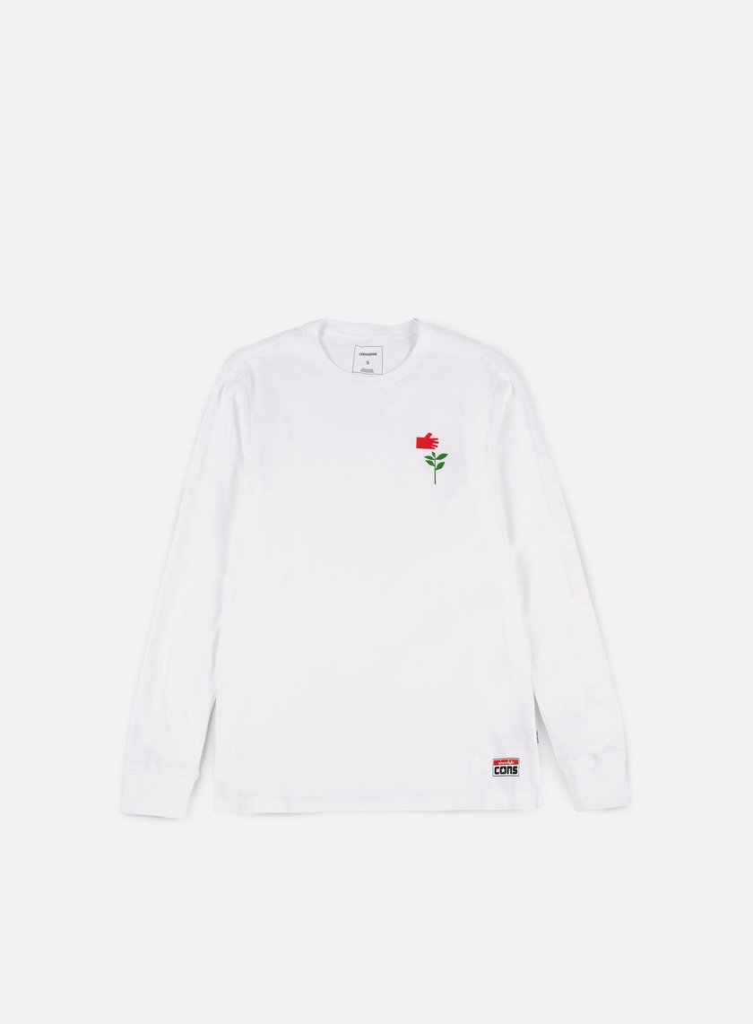 Converse - Cons Chocolate LS T-shirt, White