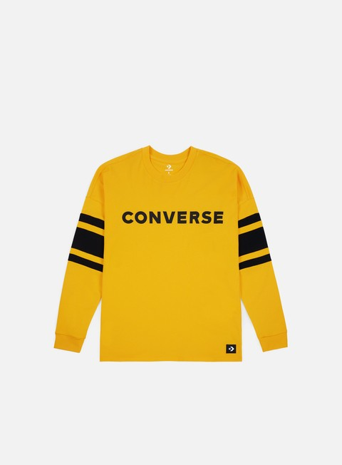t shirt converse football jersey ls t shirt university gold