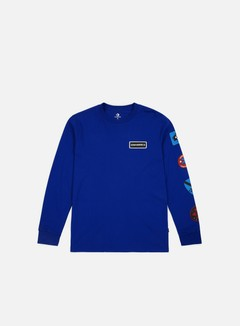 Converse - Garage Patch LS T-shirt, Converse Blue