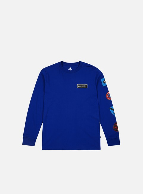 t shirt converse garage patch ls t shirt converse blue