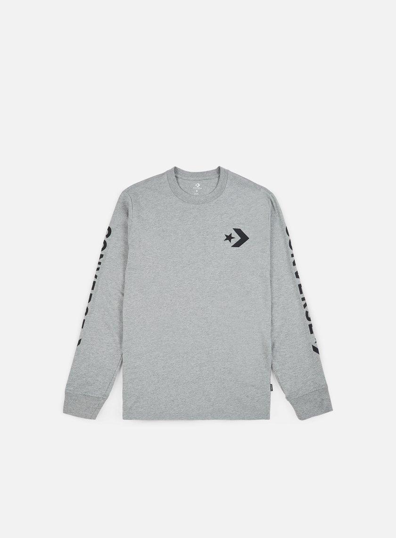 Converse Star Chevron Wordmark LS T-shirt