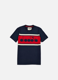 Diadora - BL T-shirt, Blue Caspian Sea/Red