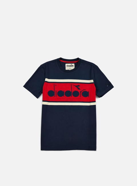 t shirt diadora bl t shirt blue caspian sea red