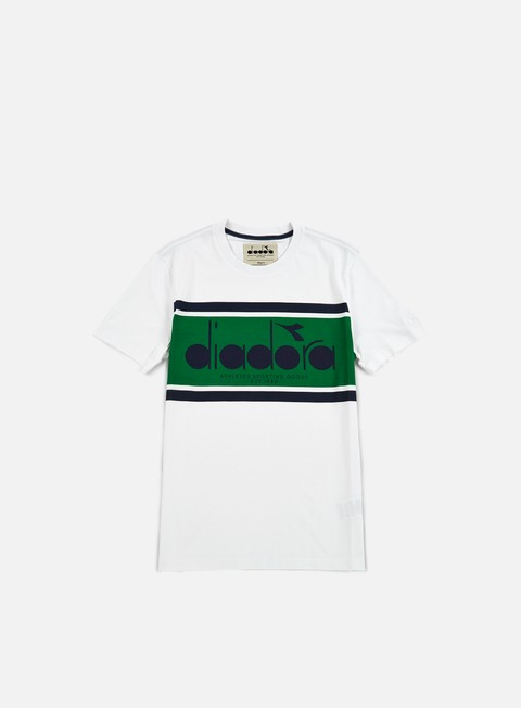 t shirt diadora bl t shirt green super white