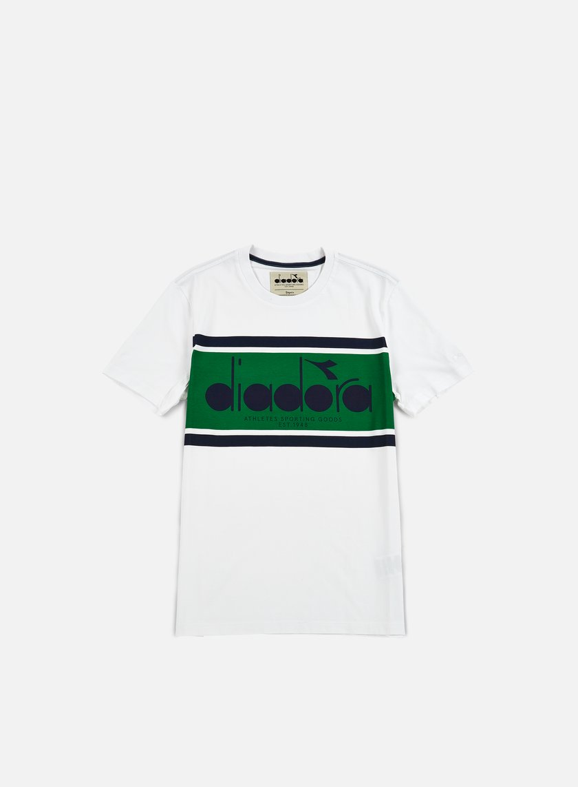 Diadora - BL T-shirt, Green/Super White