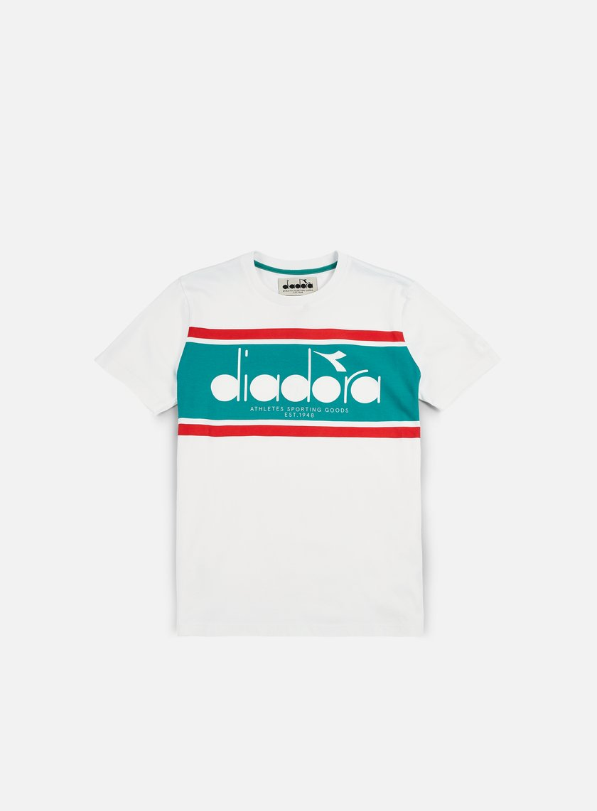 Diadora - BL T-shirt, White/Green Ceramics