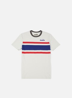 Diadora - SL T-shirt, Grey/Red 1