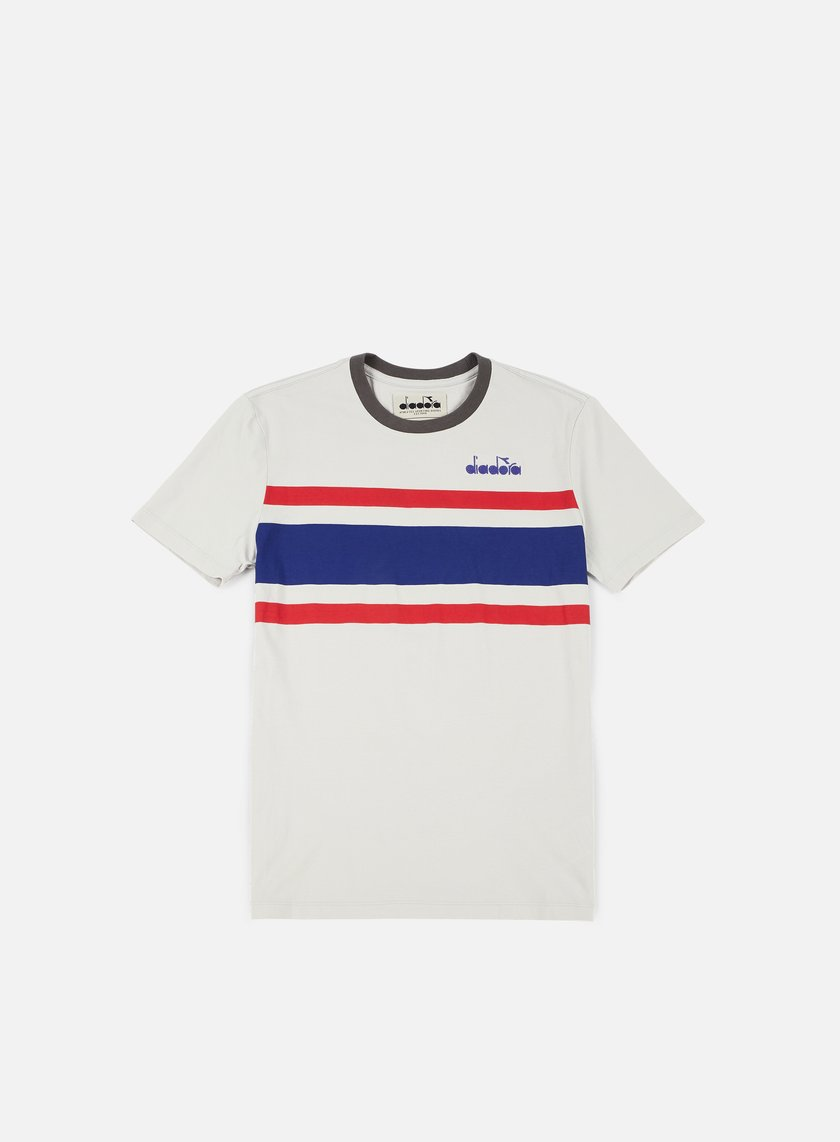 Diadora - SL T-shirt, Grey/Red