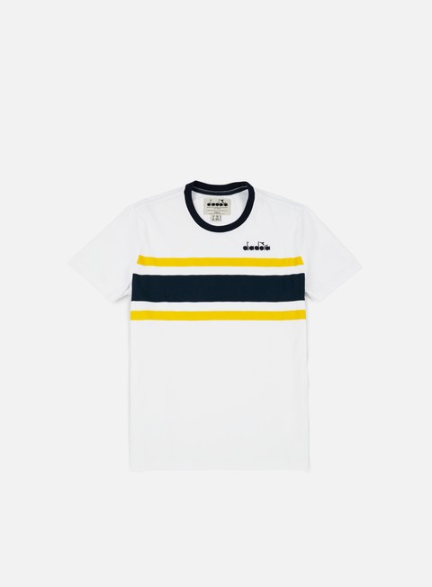 t shirt diadora sl t shirt white blue