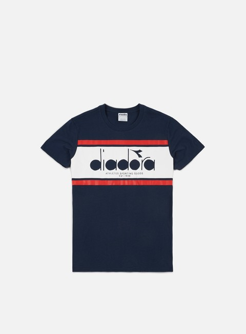 t shirt diadora spectra t shirt blue denim white red salsa