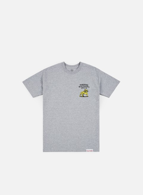 t shirt diamond supply bulldogs t shirt heather grey