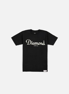 Diamond Supply - Champagne Script T-shirt, Black 1