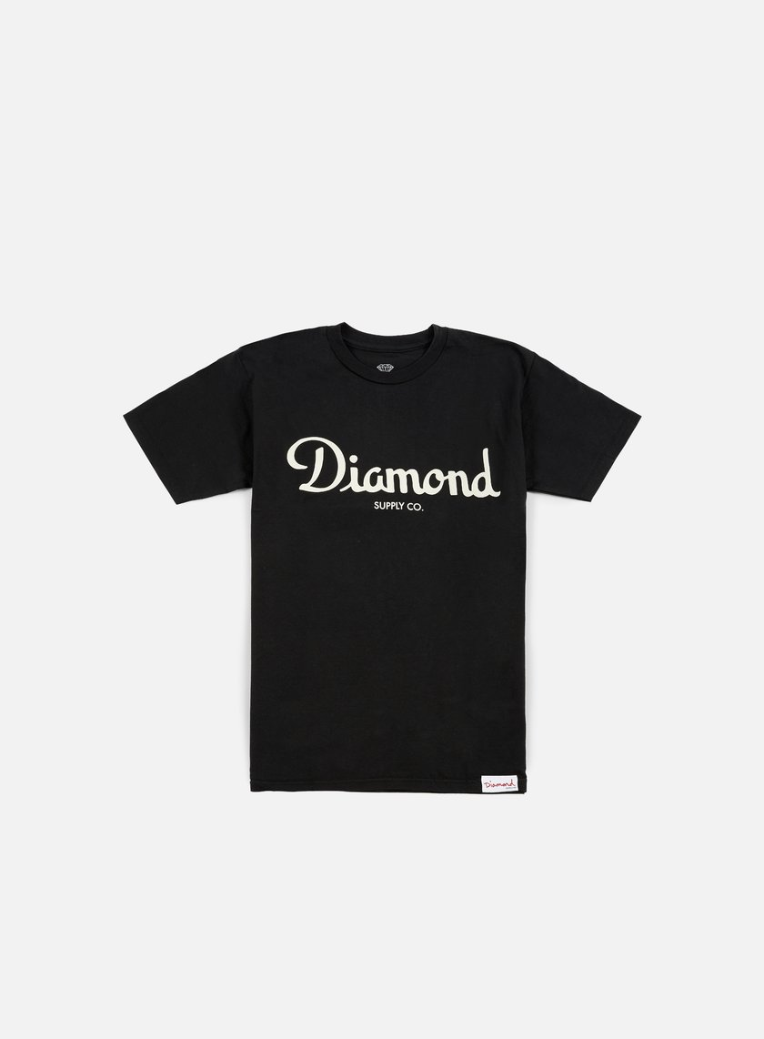 Diamond Supply - Champagne Script T-shirt, Black