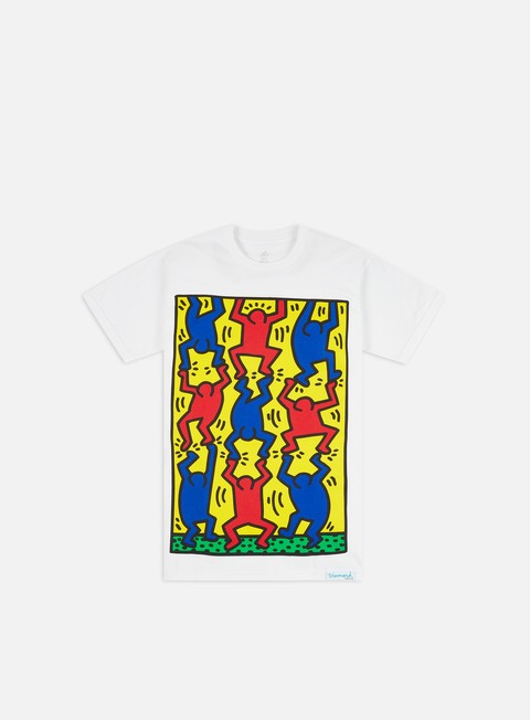 Diamond Supply Diamond X Keith Haring Fingers Crossed T-shirt