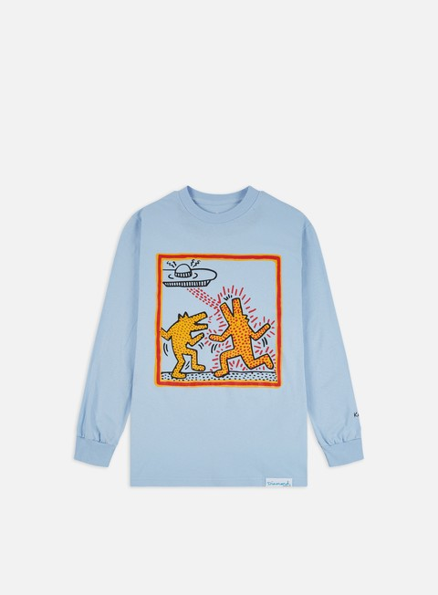 Long Sleeve T-shirts Diamond Supply Diamond X Keith Haring Howlin Wolf LS T-shirt