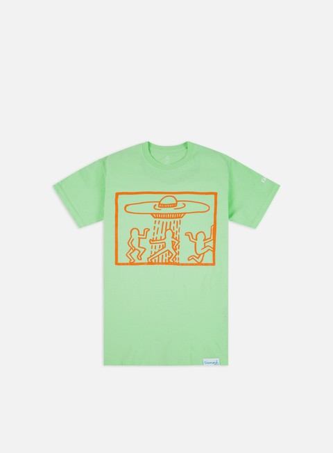 Short Sleeve T-shirts Diamond Supply Diamond X Keith Haring Space Ships T-shirt