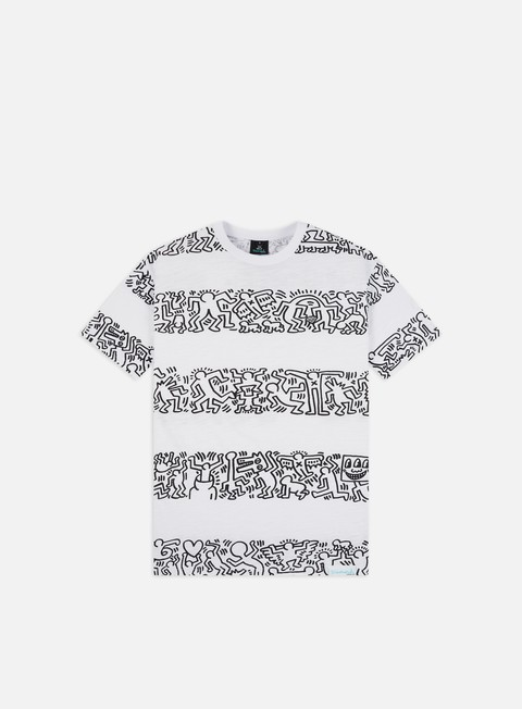Short Sleeve T-shirts Diamond Supply Diamond X Keith Haring Stripes T-shirt