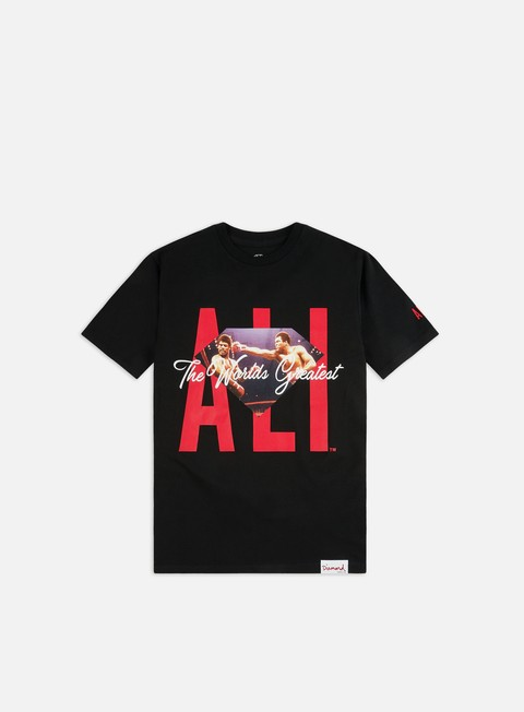 Short Sleeve T-shirts Diamond Supply Diamond X Muhammad Ali Sign T-shirt