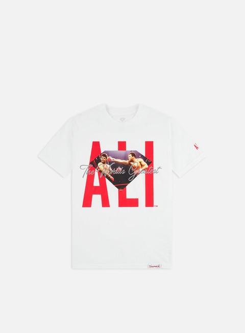 Short sleeve T-shirts Diamond Supply Diamond X Muhammad Ali Sign T-shirt