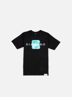 Diamond Supply - Emerald Cut T-shirt, Black/Blue Diamond