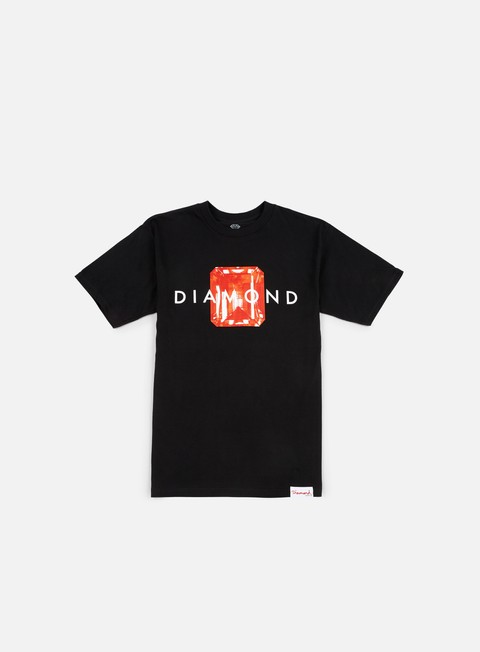 t shirt diamond supply emerald cut t shirt black red