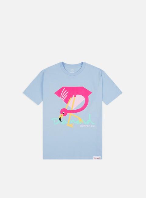Outlet e Saldi T-shirt a Manica Corta Diamond Supply Flamingo Sign T-shirt
