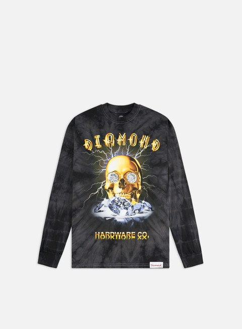 Long Sleeve T-shirts Diamond Supply Gold Skull LS T-shirt