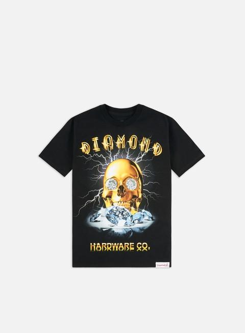 Short Sleeve T-shirts Diamond Supply Gold Skull T-shirt