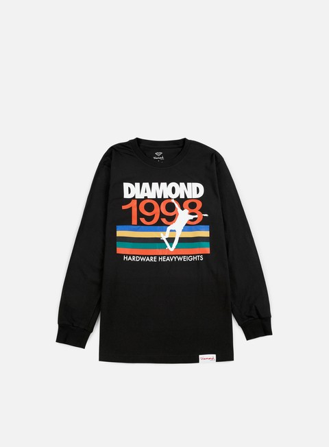 t shirt diamond supply nineties ls t shirt black