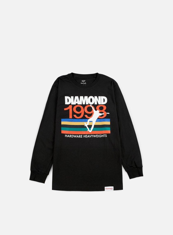 Diamond Supply - Nineties LS T-shirt, Black